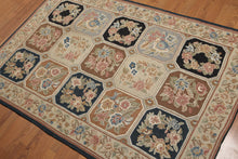 Chain Stitch Hand Made Wool Traditional  (4'x6')