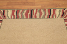 Hand Hooked Handmade Wool Contemporary Border Pattern (5'x8')