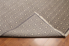 Full Pile Oriental Hand Knotted   Wool Contemporary Honeycomb design Geometric pattern (9'x12')