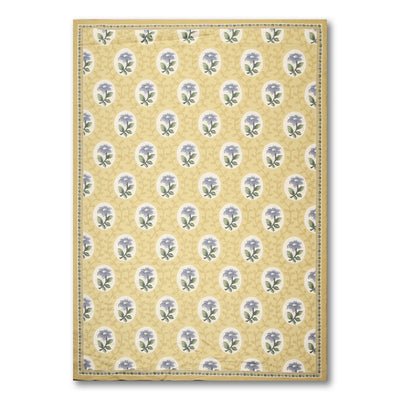 6'x9'   Mustard Yellow  Blue, Lavander, Ivory, Multi Color We have been in rug business for decades, serving customers from all over US and Canada. Your satisfaction is our ultimate goal. Needlepoint Wool Traditional Oriental Rug
