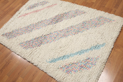 Shag Hand Made Wool Modern  (4'x6')