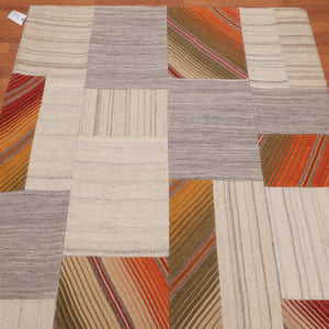 5'x8' Hand Woven Wool  Oriental Area Rug Beige, Taupe Color