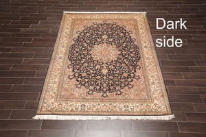 Persian Oriental Area Rug Hand Knotted 100% Silk Traditional 400 KPSI (6'x9')