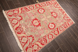 Oriental Area Rug Red/ Rust 100% Wool Traditional Nourison Nourmak Reversible (4'x6')