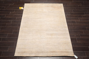 "Tibetan Oriental Area Rug Hand Knotted 100% Hemp Contemporary Full Pile Organic  (5'7""x7'8"")"