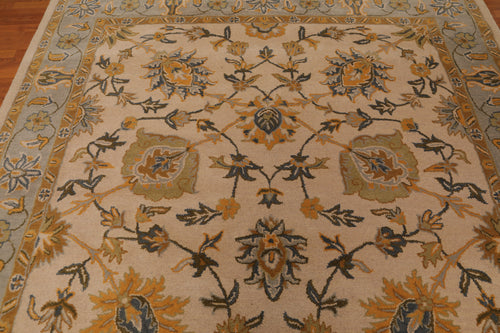 Persian Oriental Area Rug Hand-Tufted 100% Wool  Traditional Persian floral Motifs (8'x10')