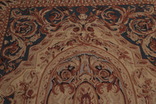 "Needlepoint Aubusson Hand-Woven Wool Traditional French design (4'6""x6'9"")"