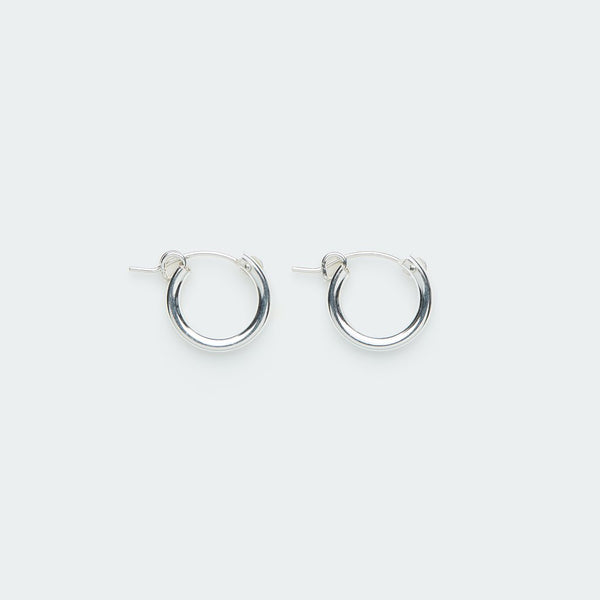 Thick Hoop Earring with Clasp - Single
