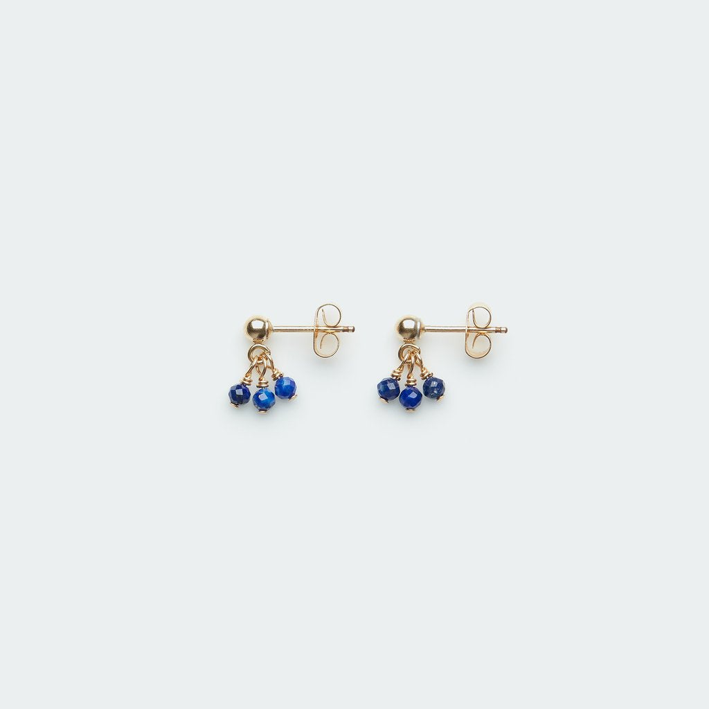 Three Pebble Gemstone Studs - Single
