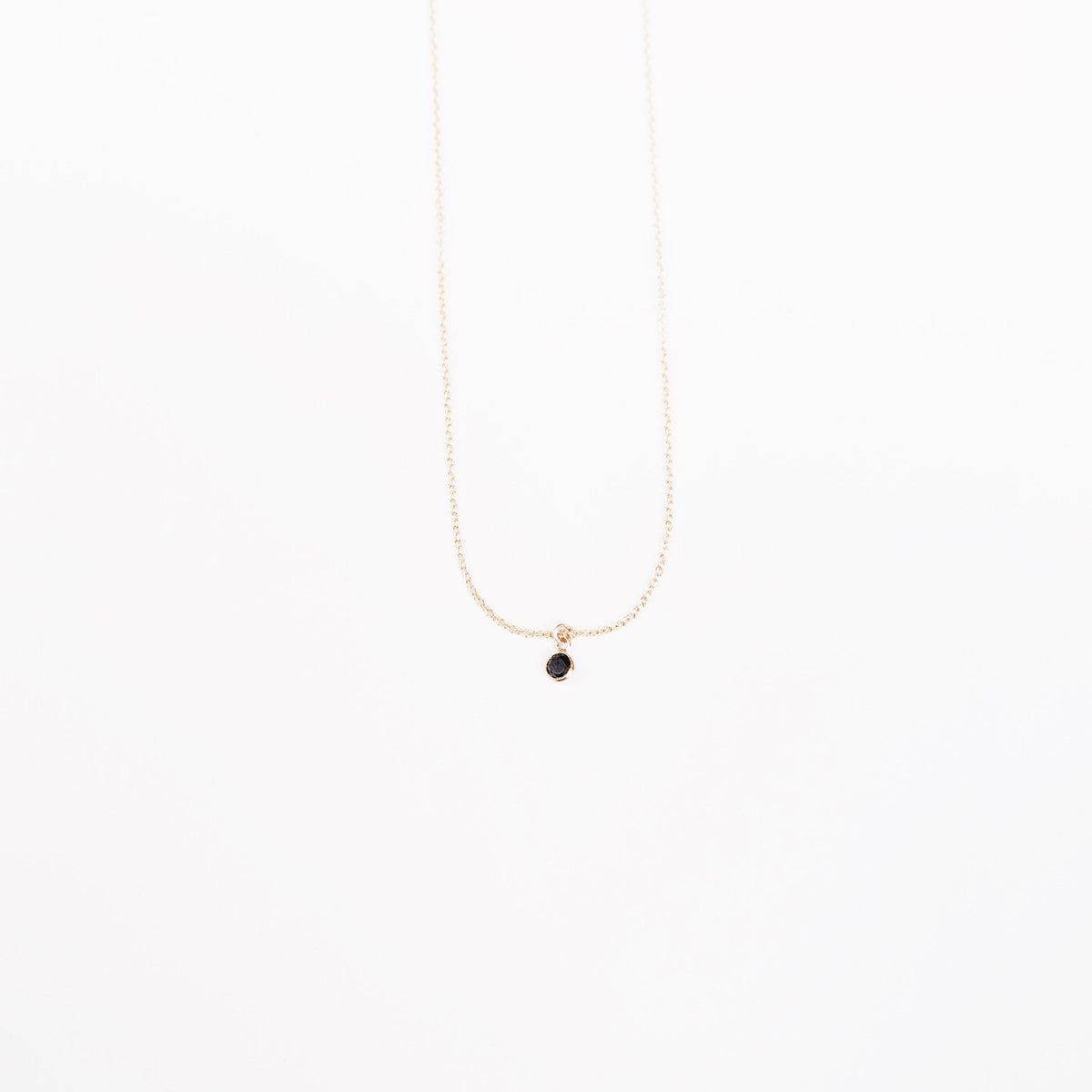 Black Stone Short Necklace