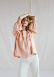 Puff Sleeve Blouse - 2 Colours