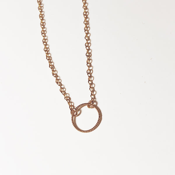 Circle Rope Karma Necklace