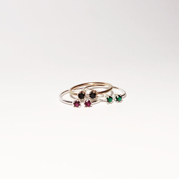 Twin Ring - Black Spinel