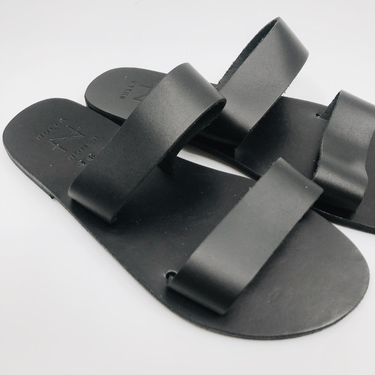 Two Strap Sandals - Black