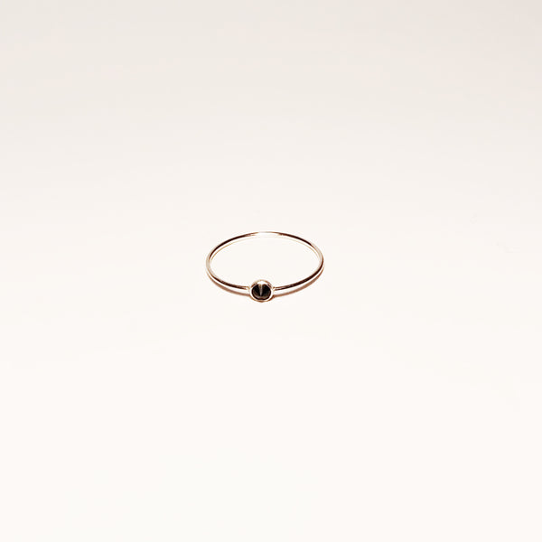 Spike Ring - Black Spinel