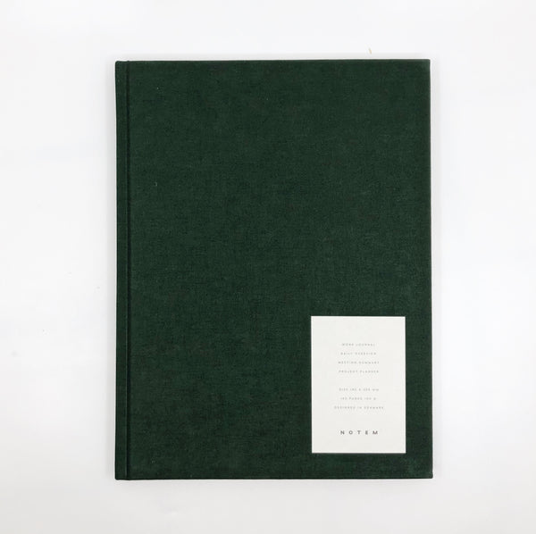 Notem Large Weekly Journal - Dark Green
