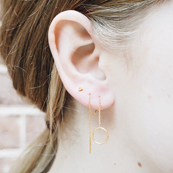 Circle Threader Earrings (Single)