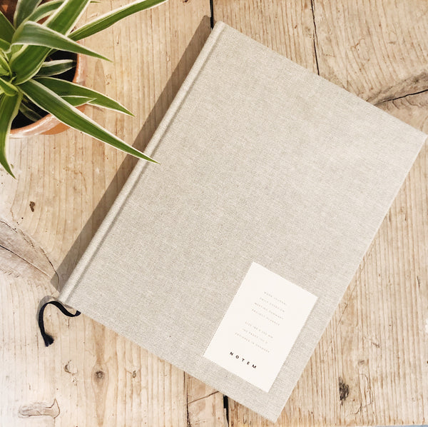 Notem Large Weekly Journal - Light Grey