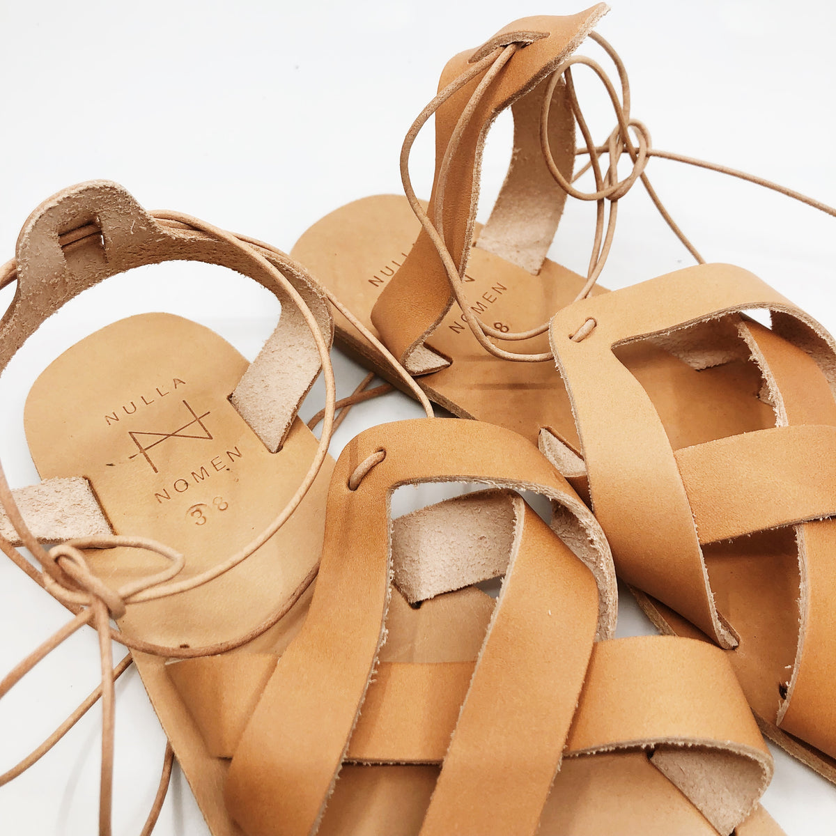 Criss-Cross Sandals - Tan