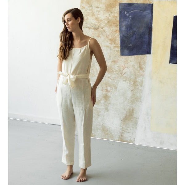 Sleeveless Jumpsuit Ivory