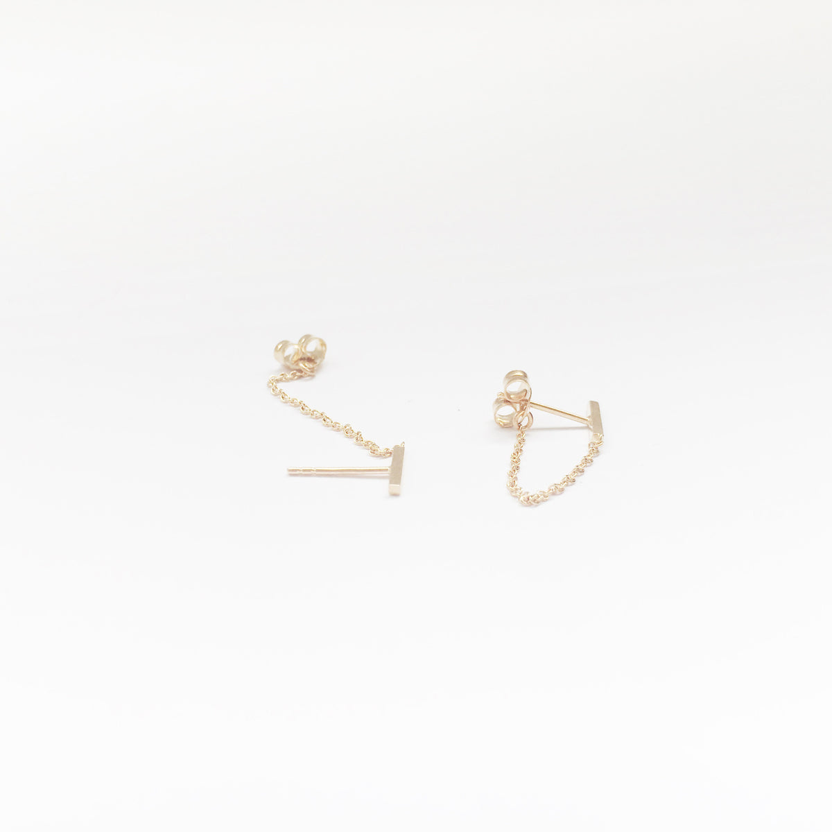 Bar Chain Earring (Single)