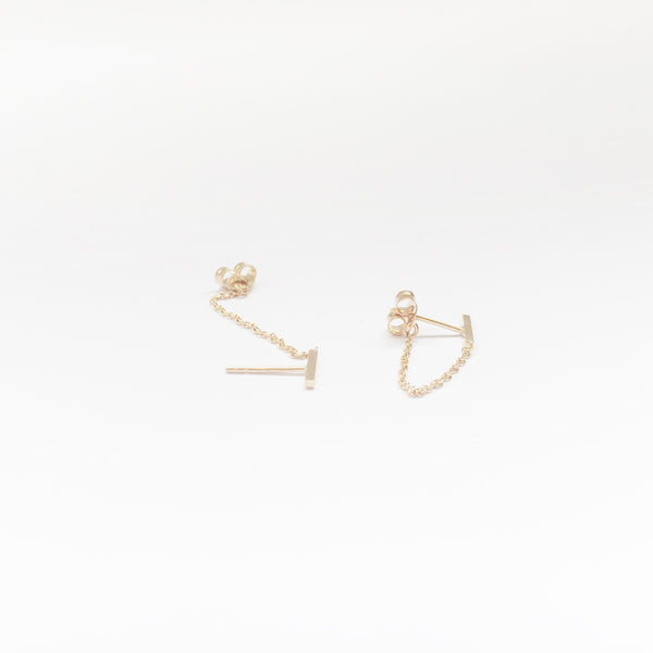 Bar Chain Earring - Single