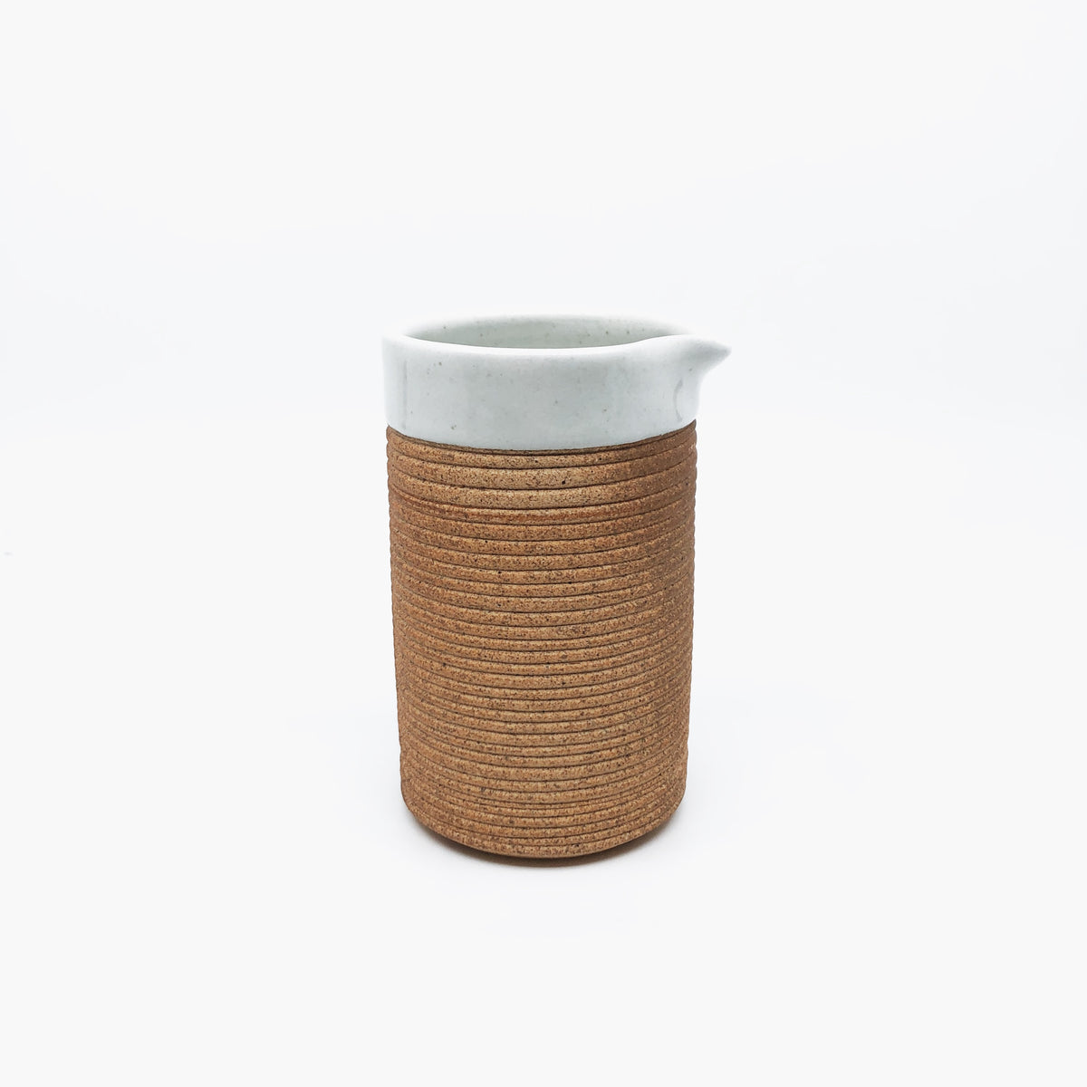 Ribbed Terracotta Jug