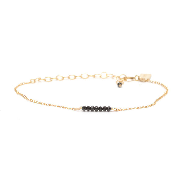 Tiny Ellipsis Bracelet - Black