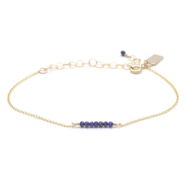 Tiny Ellipsis Bracelet - Lapis