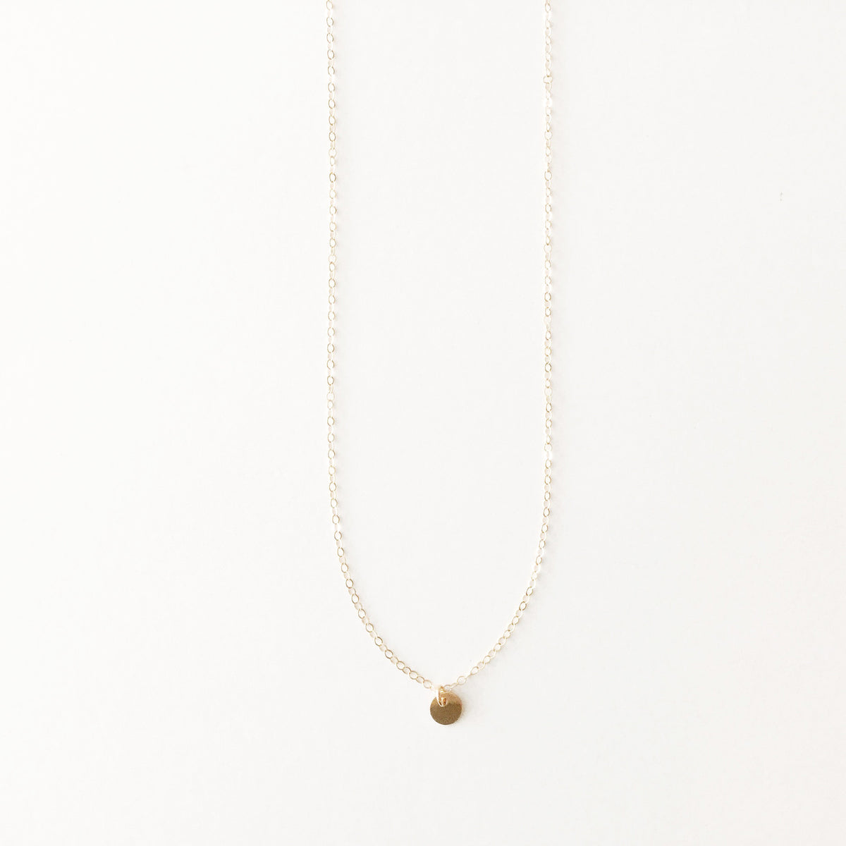 Simple Disc Necklace (7035583751)