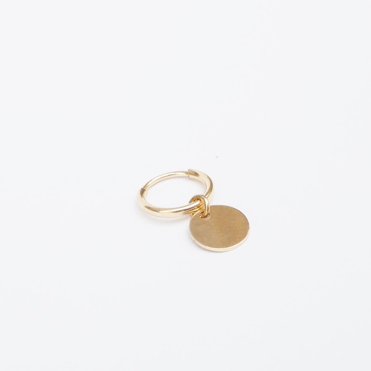 Hoop with Coin Pendant - Single (10862014410)