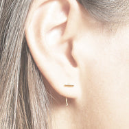 Gathershop Hugger Bar Earrings / Hangoorbellen (5611016071)