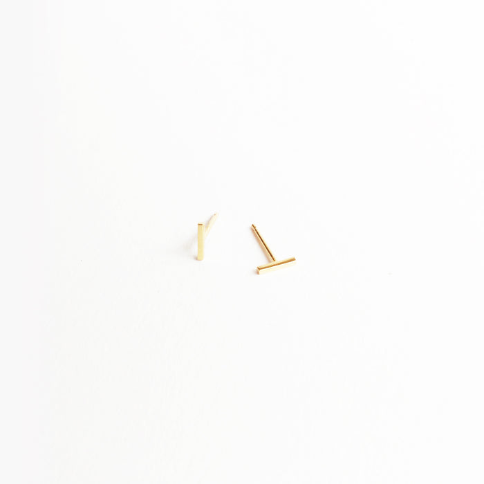 Tiny Line Earring Pair