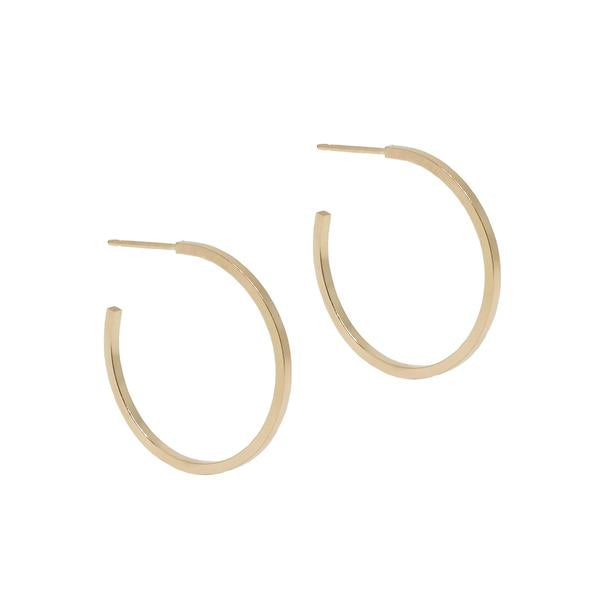 Large Finn Classic Solid Hoops - Pair