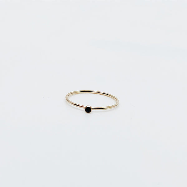 Mini Black Bezel Ring (364640141342)