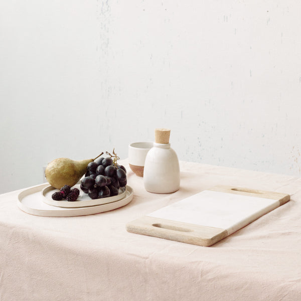 Marble and Mango Wood Platter