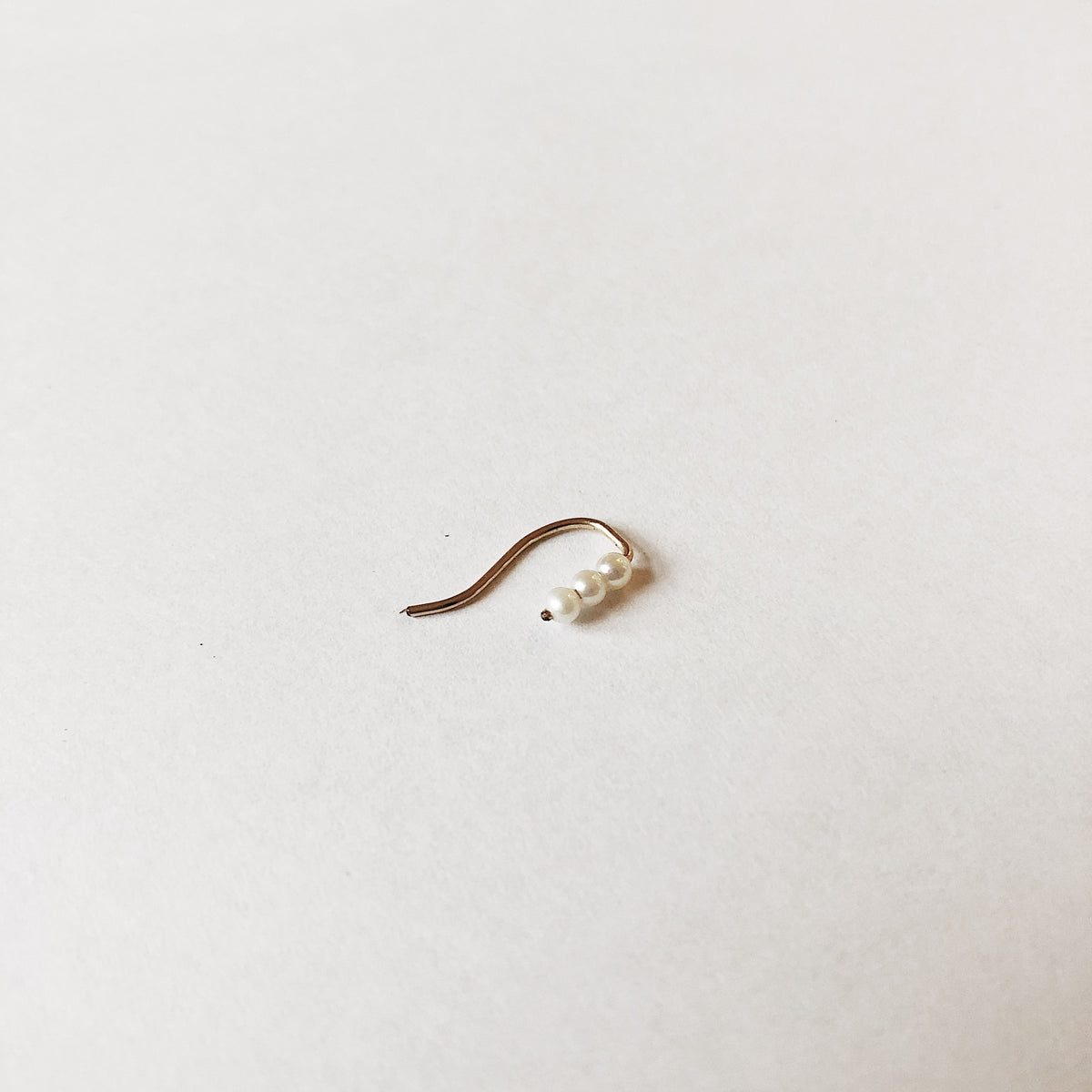 Baby Pearl Ear Pin - Single