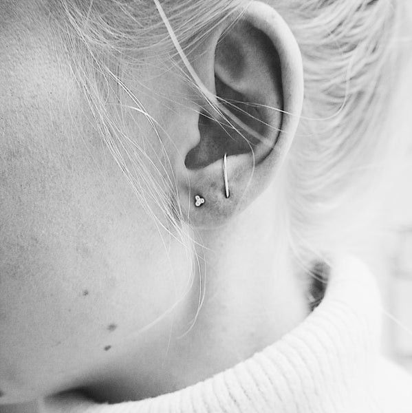 Tiny Three Dot Studs - Pair