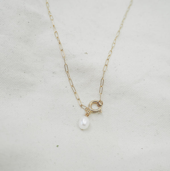 Large Pearl Necklace with Statement Clasp
