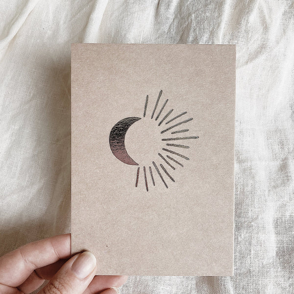 Moonrise Letterpress Card
