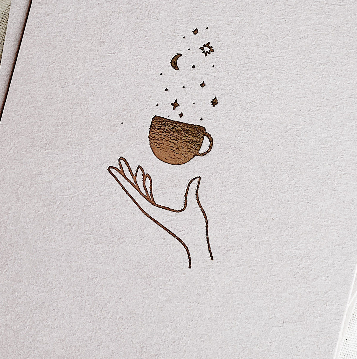 Universe in a Teacup Letterpress Card