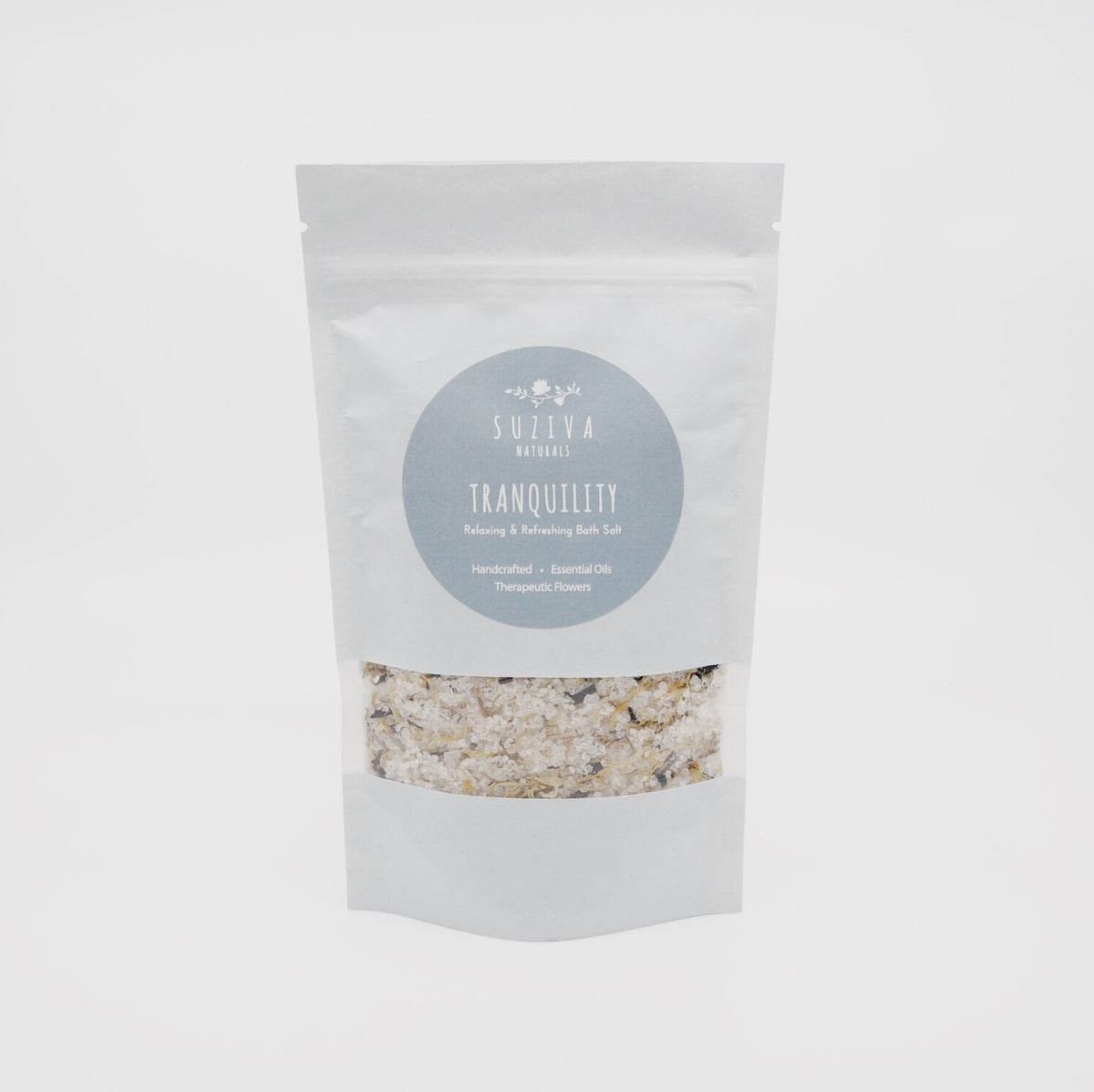 Handmade bath salts with flowers - Tranquility