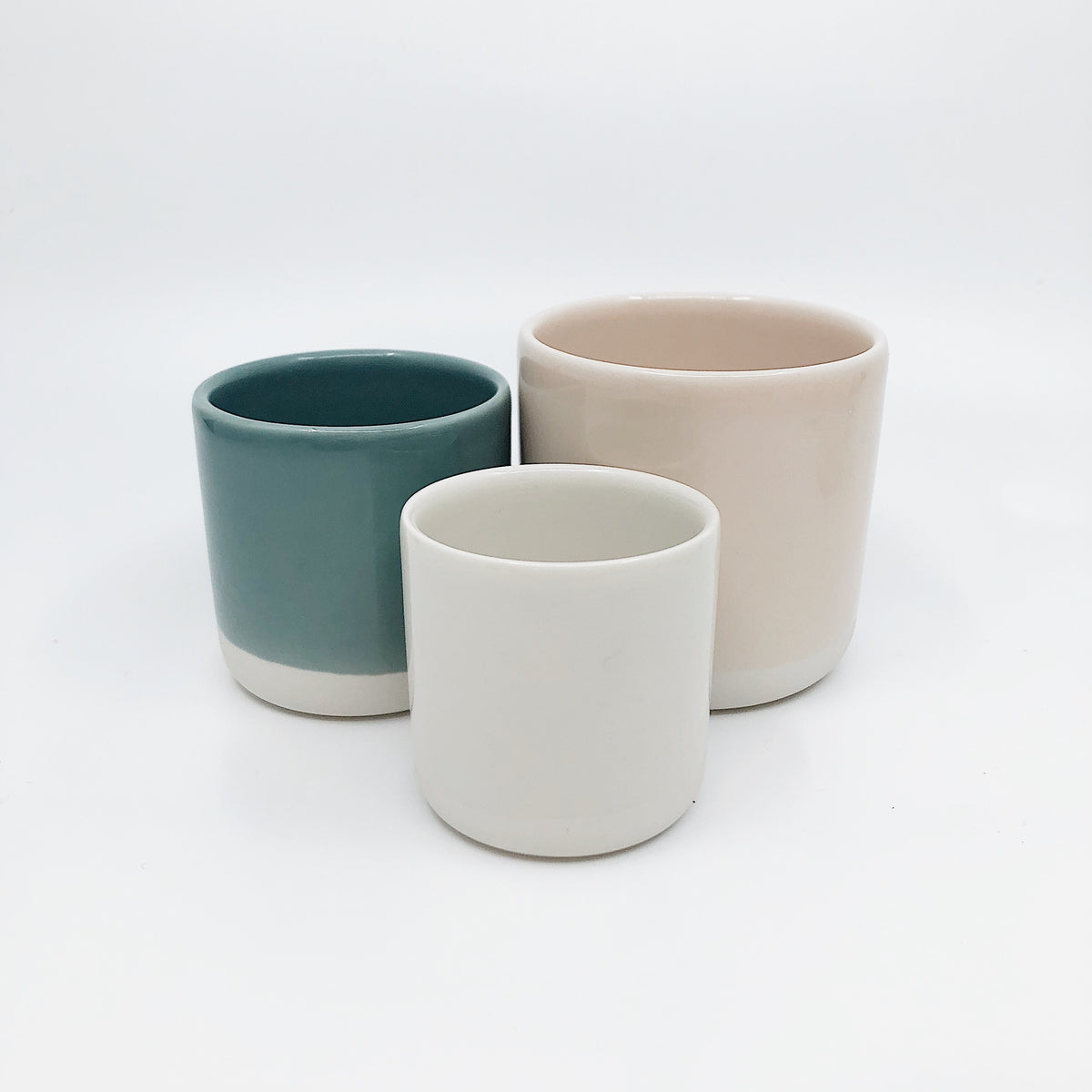 Half Glazed Ceramic Cup Large
