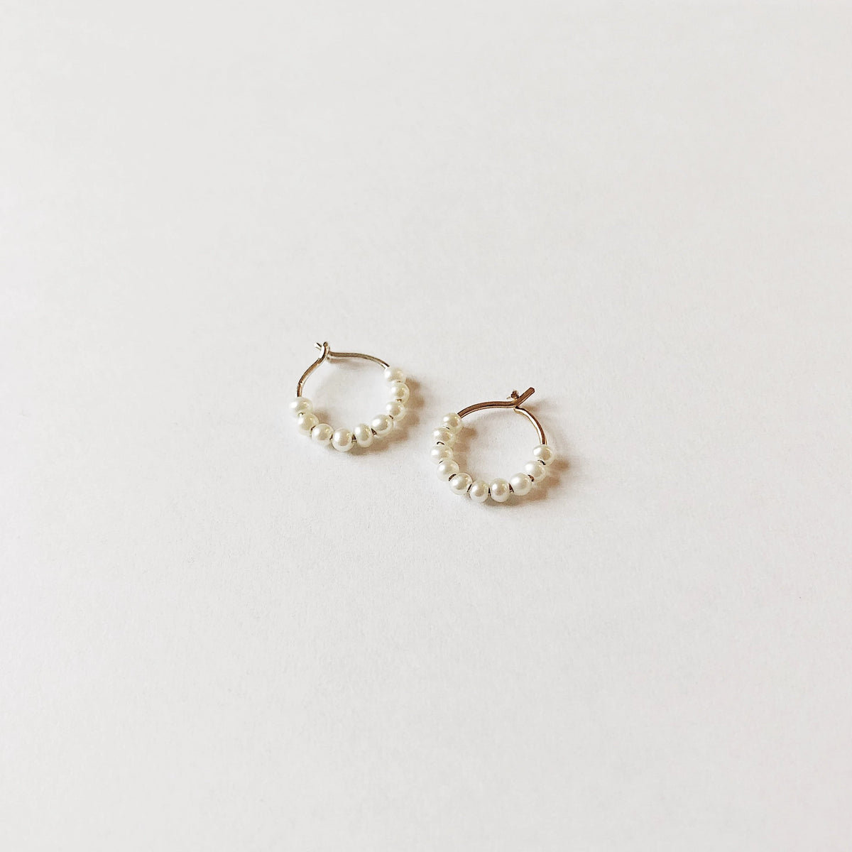 Baby Pearl Hoops - Single