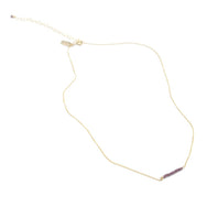 Tiny Ellipsis Necklace - Garnet