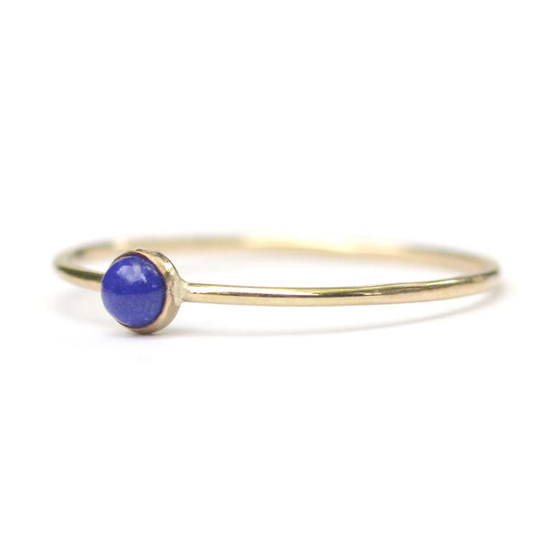 Micro Dot Ring - Lapis