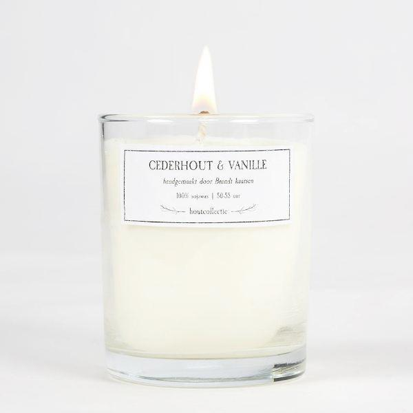 Large Soy Wax Candle - Cederhout & Vanille
