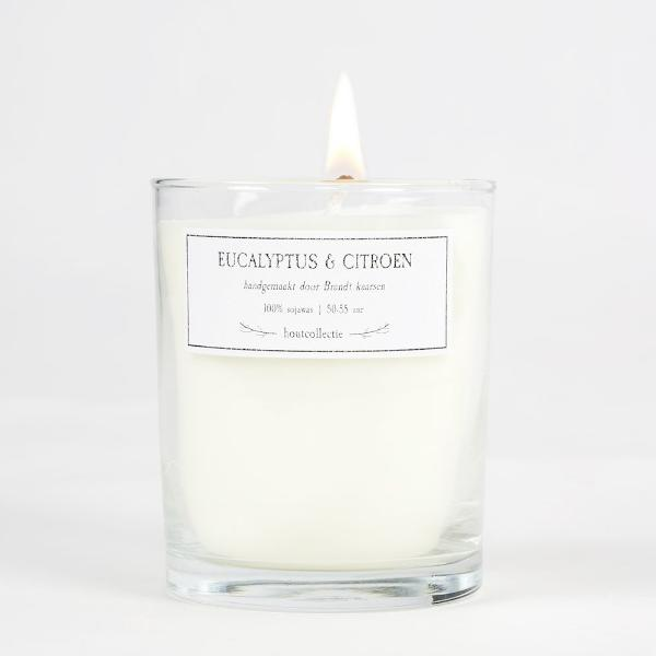 Large Soy Wax Candle - Eucalyptus & Citroen (10504332170)