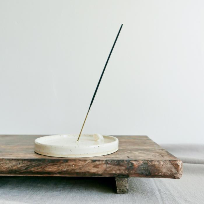 Incense Holder - Speckled White