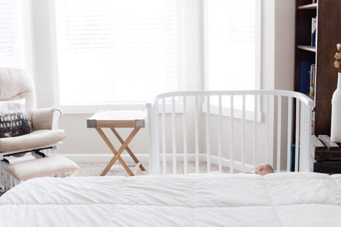 me sleeper bedside co cot baby bed to mattress white crib wooden pin from birth next